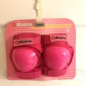 Hot Pink Razor Knee Pads